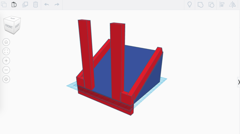 A CAD model of the scrubber holder