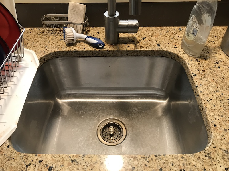 A view of a kitchen sink